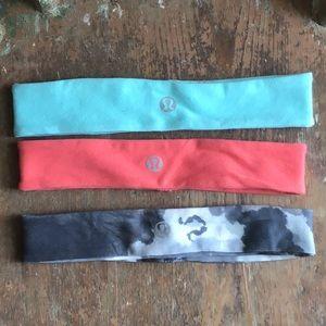 Lululemon headbands -set of 3